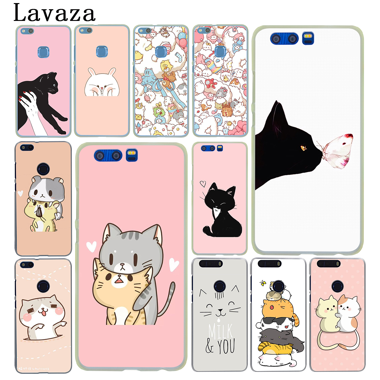 Lavaza Kawaii Molang Cartoon Anime dog cat Hard Case for Huawei Honor 6A 7X 7C 7A 6C Pro 8 9 10 Lite 8C 8X Mate 10 20 Lite Pro Собака