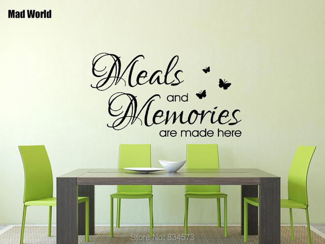 mad world meals and memories quote kitchen wall art stickers wall