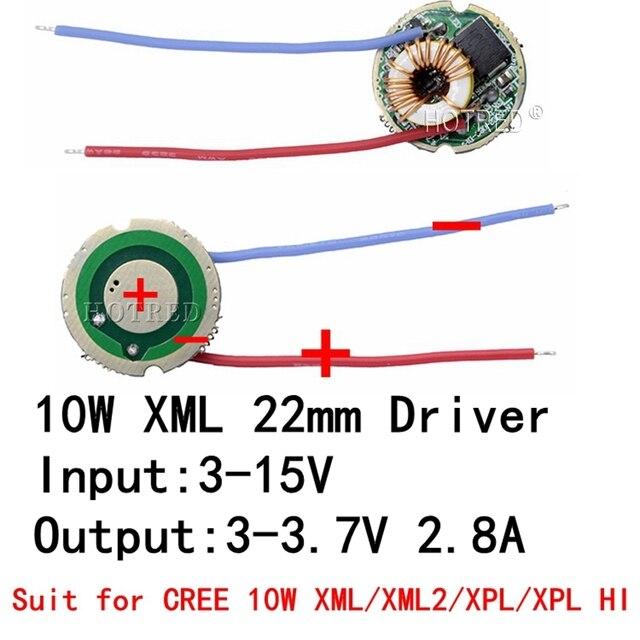 1 قطعة 5 وضع/1 وضع المدخلات 3 فولت 15 فولت تيار مستمر 22 مللي متر LED سائق ل كري 10 واط T6 XML T6/U2 XM L2/U2 مصباح ليد جيب أو 12 فولت سيارة تعمل بالبطارية ضوء