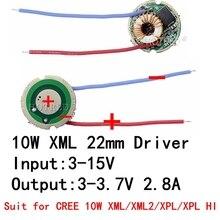 1 個 5 モード/1 モード入力 3 V 15 V dc 22 ミリメートル Led ドライバクリー 10 ワット T6 XML T6/U2 XM L2/U2 Led 懐中電灯や 12 V バッテリー車のライト
