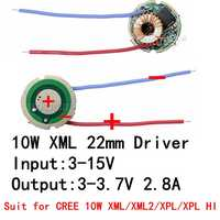 1PCS 5 Mode/1Mode Input 3V-15V dc 22mm LED Driver For Cree 10W T6 XML T6/U2 XM-L2/U2 LED Flashlight or 12V Battery Car Light