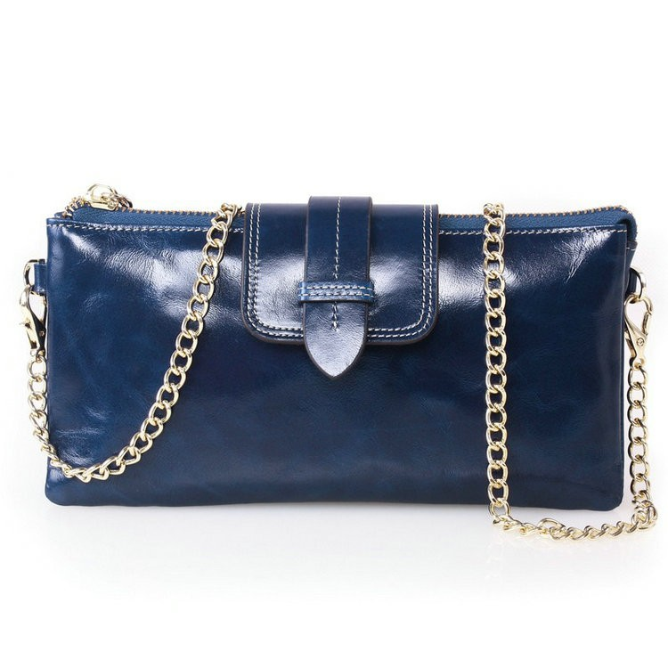 womens leather wallets blue