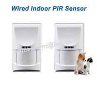 Wired Indoor Pet Friendly PIR Sensor Motion Detection For GSM PSTN Alarm System