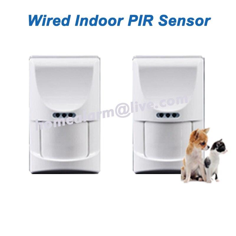 bilder für 2 teile/los wired indoor pet freundliche pir sensor motion detektor passive infrarot-sensor für gsm pstn alarmanlage, freies Verschiffen