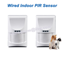 2pcs/lot Wired Indoor Pet Friendly PIR Sensor Motion Detector Passive Infrared Sensor for GSM PSTN Alarm System, Free Shipping