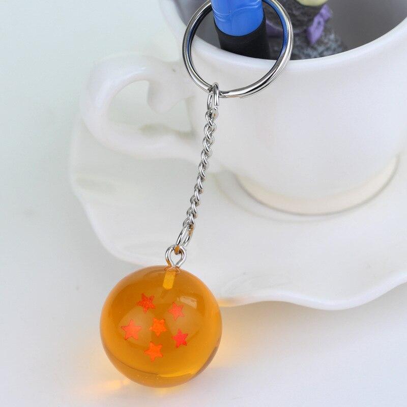 Мода Аниме Шарм Гоку Драконий жемчуг супер брелок 3D 1-7 звезд Косплей хрустальный шар брелок Коллекция игрушек подарок брелок - Цвет: style 6