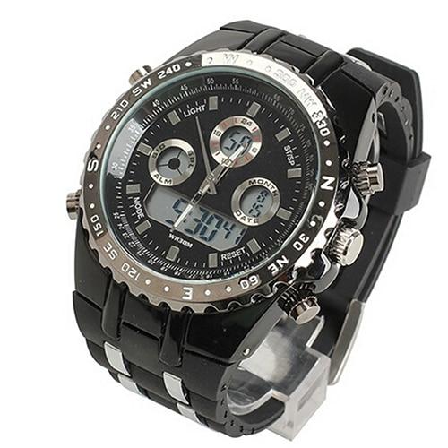Ausdauernd Herrenmode Luxus Casual Multifunktionale Digital Quarz Analog Sport Armbanduhr