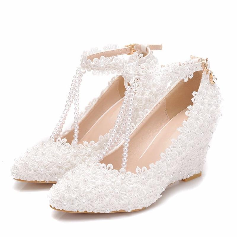 Dropshipping Woman Shoes Wedges Heels Wedding Bridal