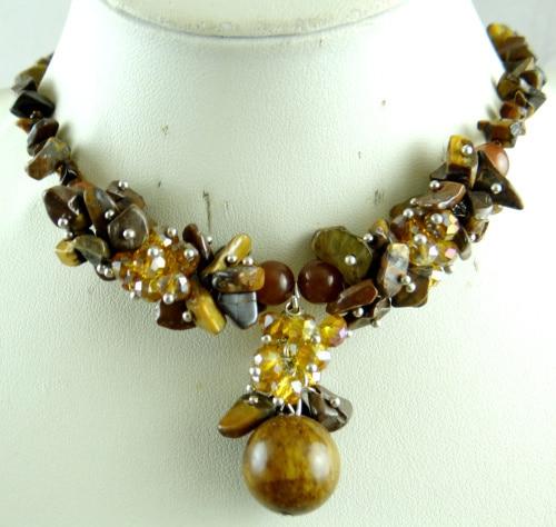 New handmade boho hematite and aventurine necklace