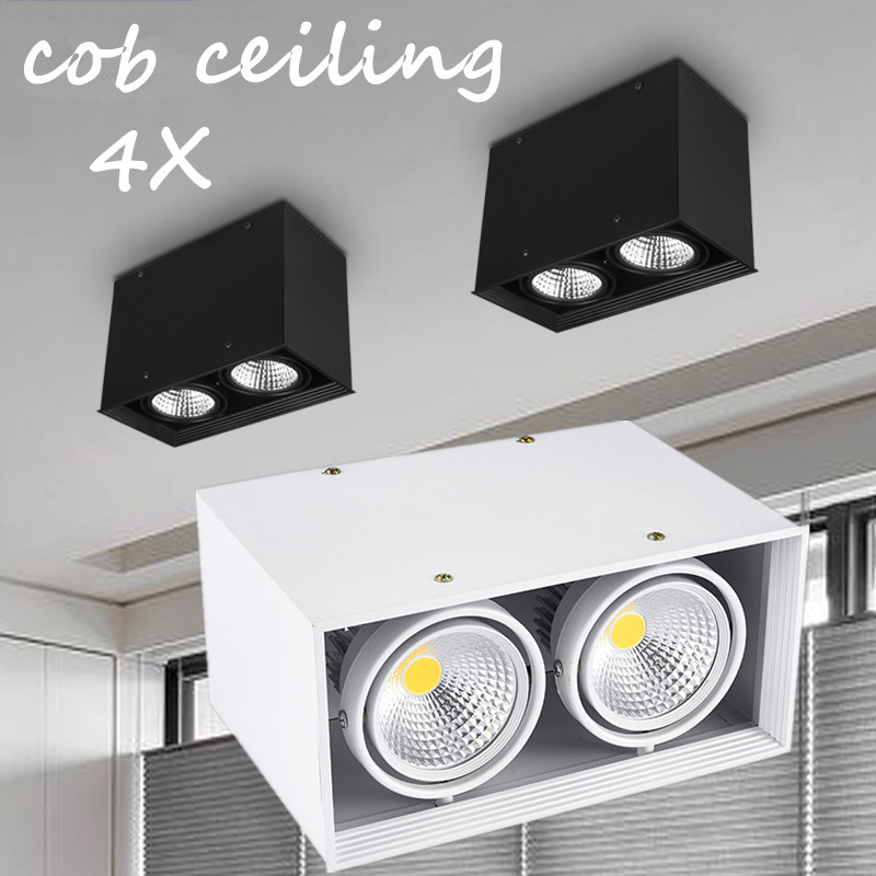 Led Lighting Symbol Of The Brand 4pcs/lot Wholesale Super15w/2*15w/3*15w Square Recessed Cob Led Bean Pot Lamp With Led Driver Cob Led Grille Down Lamp Ac85-265v Aromatic Flavor