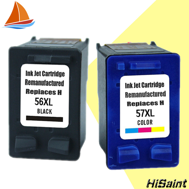 Hisaint HP 56 için HP 57 için HP mürekkep kartuşları Deskjet F300 F378 F388, F2100, F2128, F2188, f2238, F2288, F4188 Jet Yazıcı