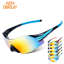 OBAOLAY Cycling Glasses UV400 Protection Bike Eyewear MBT Riding Motorcross Bicycle Sunglasses For Men Women oculos ciclismo