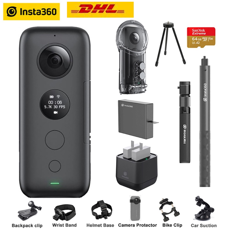 Insta360 One X Action Camera VR 360 Panoramic Camera For IPhone X Xs Android 5.7K Video 18MP Invisible Selfie Stick Insta 360(China)