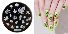 1pc Available Nail Stamping Plates For Art Leaf Designs Stencil Manicure Template 5.5cm Hot Selling Tools