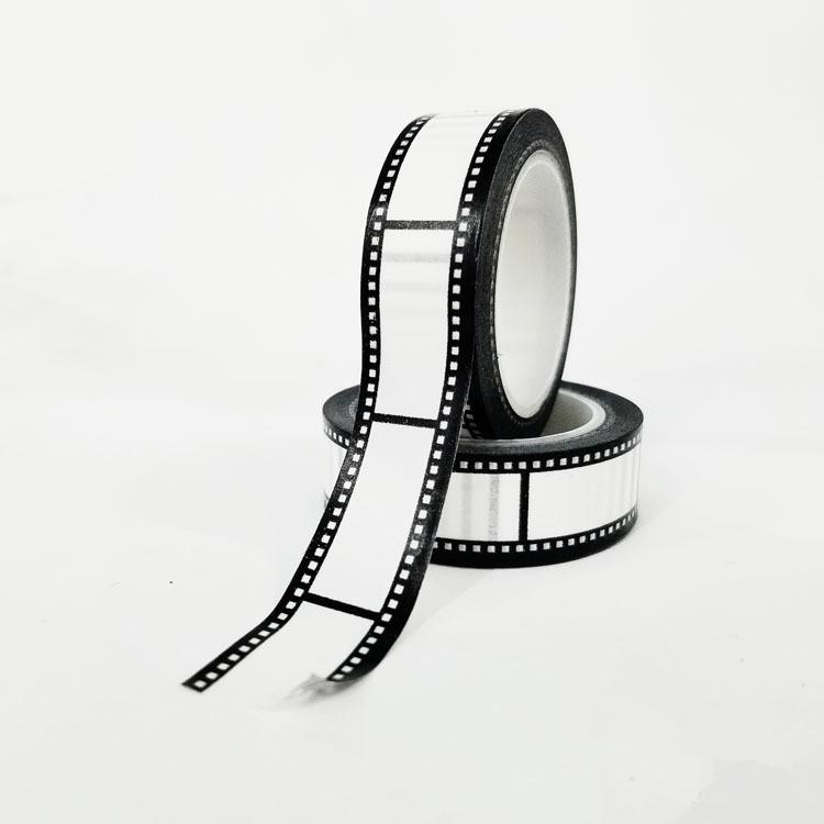 15мм * 10м черный и белый клейкая лента японский Васи лента декоративная лента DIY Записки бумаги фотоальбом клейкой ленты