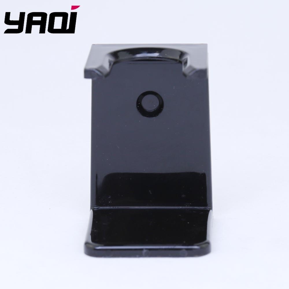 Black Acrylic Shaving Brush And Razor StandBlack Acrylic Shaving Brush And Razor Stand