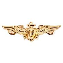 WWII U.S.Navy Marines Pilot Corps Gold Aviator Wings Pin Badge US195