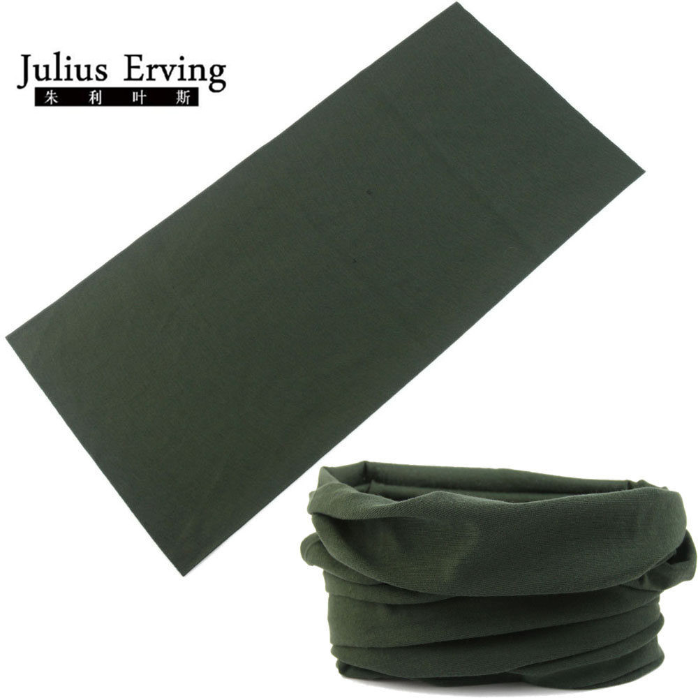 Army Green Cykling Mens Sport Scarves Outdoor Multifunktionell sömlös Scarf 25 * 48cm Headband Baby Magic Hijab Solid Bandana