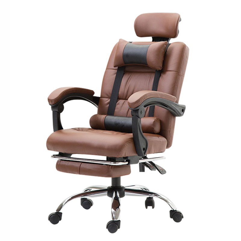 Office Chair Ergonomic Computer Boss Chair With Footrest Multifunctional Fashion Household Reclining Lying Chair With Massage