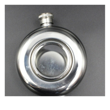 цены High Quality 5oz Whiskey Alcohol Hip Flasks Stainless Steel Round Semi-transparent Portable Camping Hip Flask Drinkware Supplies