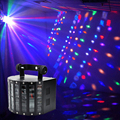 Sound Activated DMX Control RGBW LED Stage Light For Disco Party DJ Beam Light Music Show Laser Projector Lighting Effect