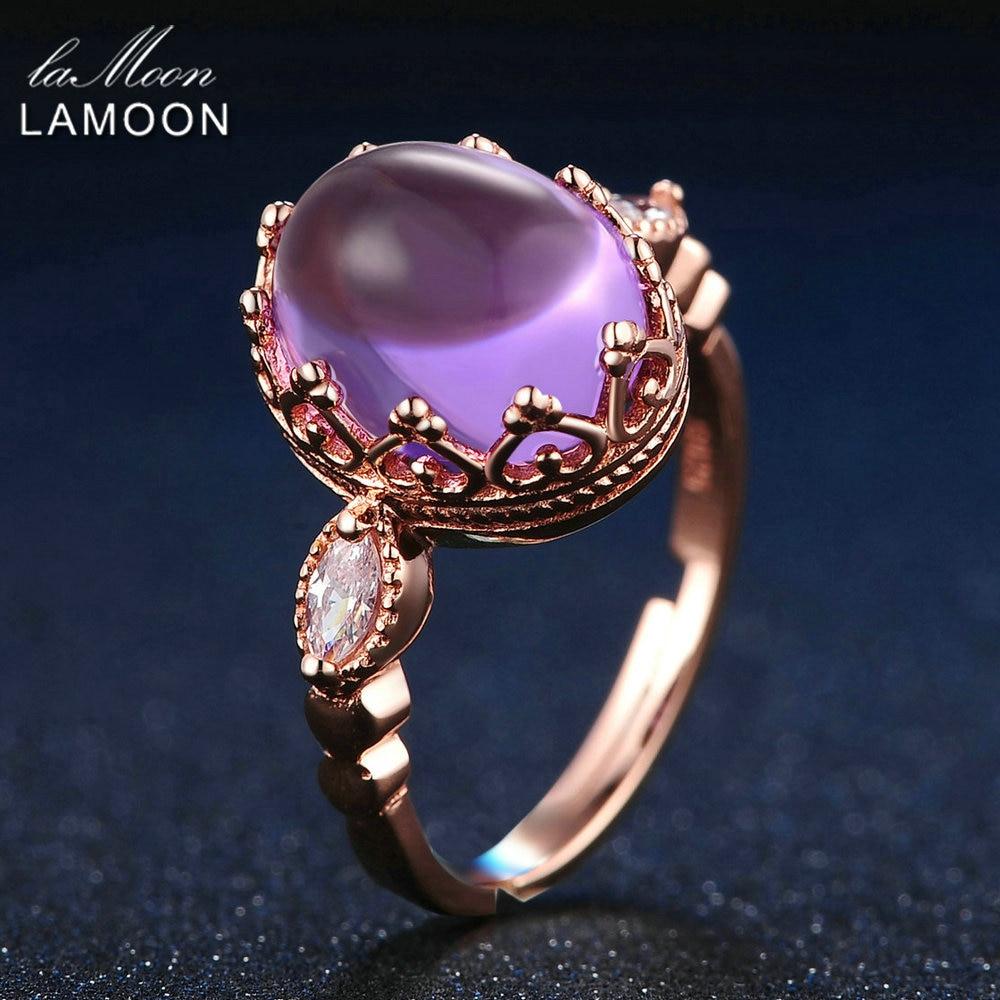 LAMOON 925 Sterling-silver-smycken 3,5 karam 100% naturliga lila - Fina smycken