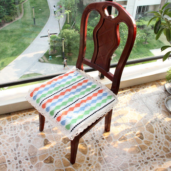 Spring zakka pastoral office computer chair cushion lightweight breathable fabric tying cushion