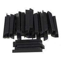 Yibuy Set von 36 stücke Klavier Sharps Keytops Wohnungen Reparatur Ersatzteile Schwarz