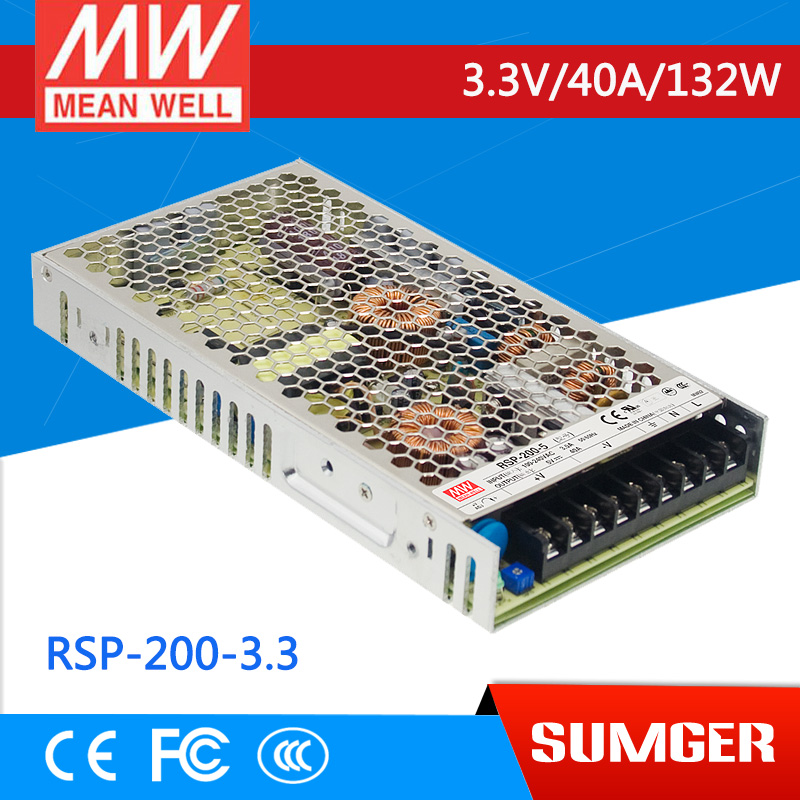 все цены на  1MEAN WELL original RSP-200-3.3 3.3V 40A meanwell RSP-200 3.3V 132W Single Output with PFC Function Power Supply  онлайн