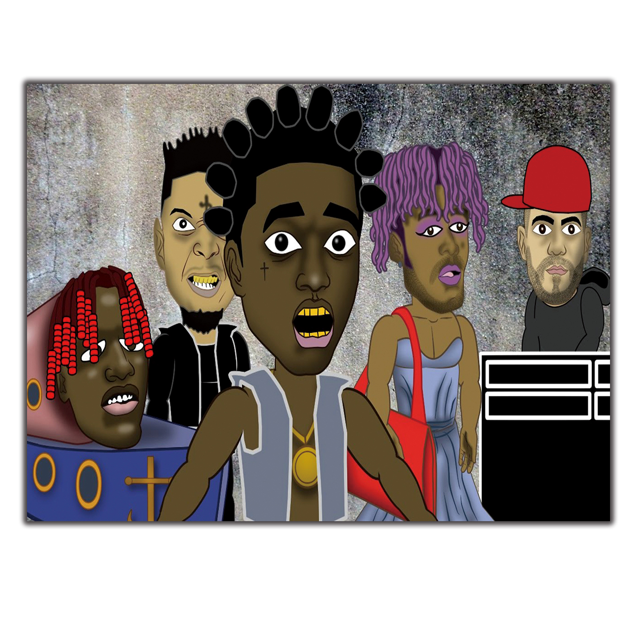 metro boomin and 21 savage poster wall decoration photo print 24 x 24 art posters art art posters