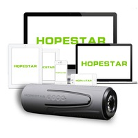HOPESTAR Waterproof Bluetooth Speaker Flashlight Column Wireless Subwoofer Portable Speakers Bike Altoparlante With Power Bank