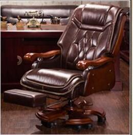 Le massage cutané de chaise de patron peut mentir la chaise de bureau double couche coussin chaise de grande classe chaise de fauteuil en bois massif.