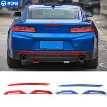 Diseño de para coches MOPAI, ABS, placa de parachoques trasera para coche, decoración, pegatinas para Chevrolet Camaro 2017, accesorios para coche
