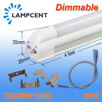 30 Pack Dimmable LED Integrated Tube T5 Light 4FT 20W Surface Mounted With Parts
