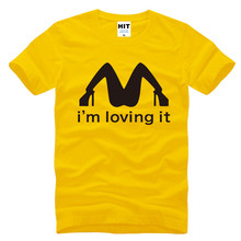 I Am Loving It Spoof Funny Cool Printed Men's T-Shirt T Shirt Men 2017 New Short Sleeve Cotton Casual Top Tee Camisetas Hombre