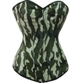 Free Shipping Hot Sell Sexy Camouflage Camo Print Boned Corset Bustier Army Girl Costume