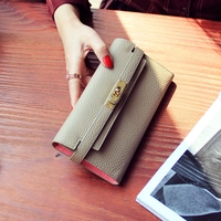 High Quality Designer Clutch The Cross Lines Lock Wallet Genuine Leather Pures Mobile Case Cellphone Card