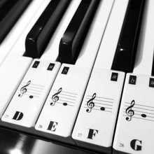Piano Keyboard Electronic Keyboard Stickers Decal Label Note Learn Biginners Kid