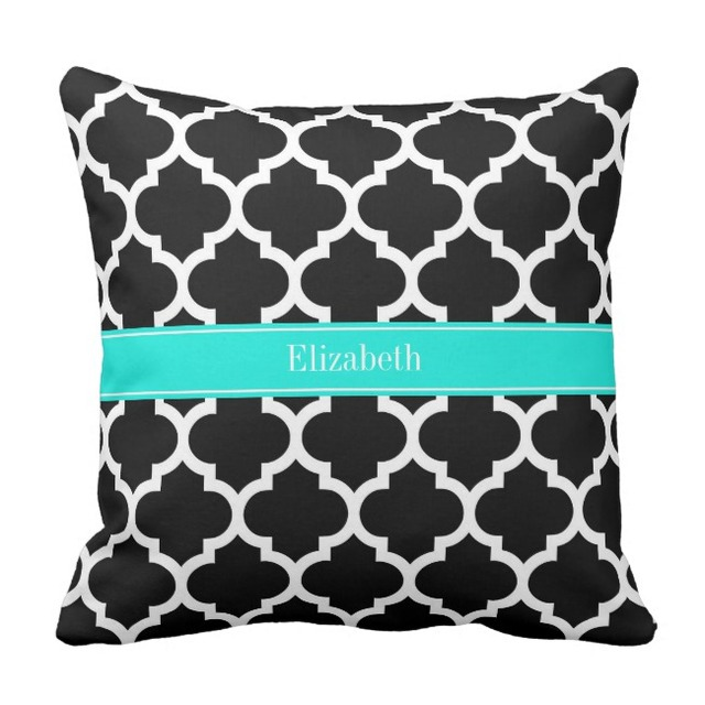 Aliexpress Buy Black White Canvas Cushion Cover Custom Name Fascinating Monogrammed Throw Pillow Covers