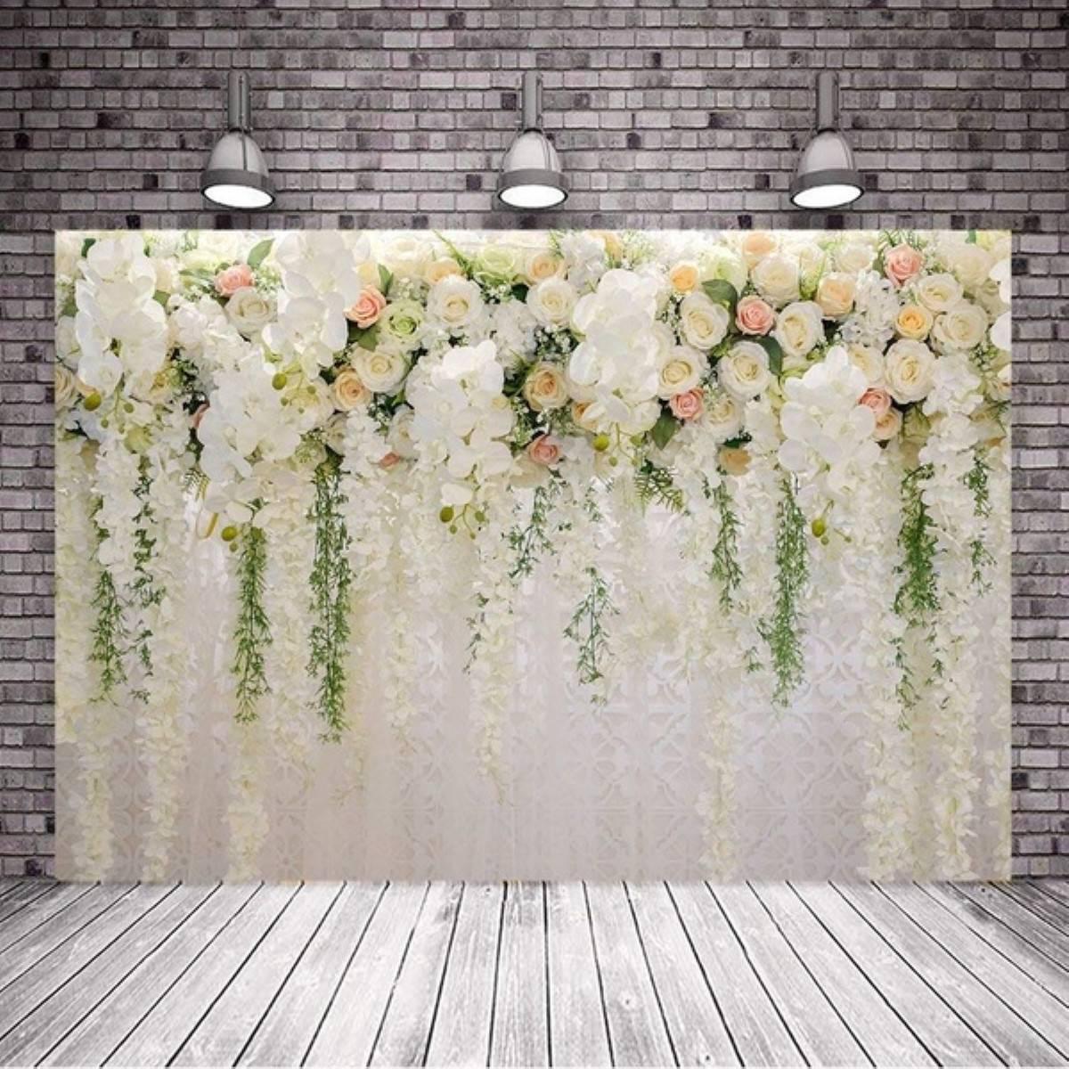 Flor de rosa parede casamento bebê criança fotografia fundos branco foto backdrops adereços para estúdio foto
