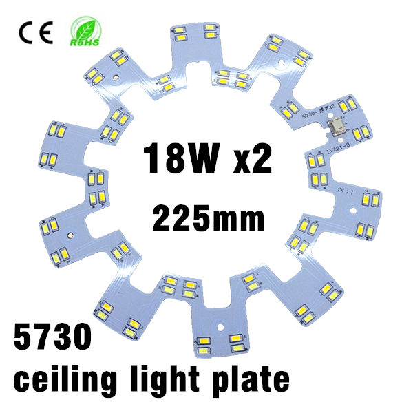где купить 18w x2 SMD 5730 LED Ceiling Light PCB Retrofit Magnet Board LED Ring Light Panel Remoulding Plate With Magnet Screw And Driver по лучшей цене