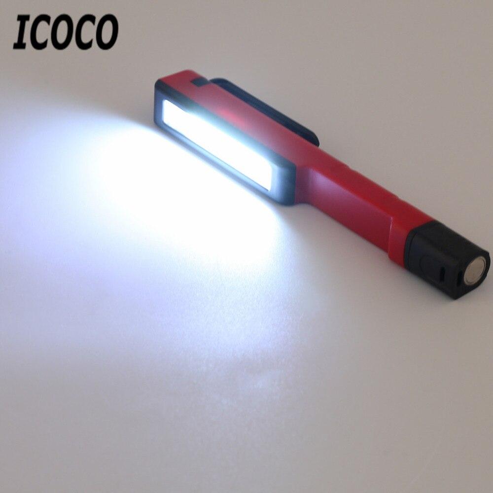 Icoco новейшие Превосходное качество Прочный Открытый Рыбалка фонарик магнитного контроля ручной работы лампы аварийного факел стильный