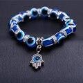 Pulseras hombre blue fatima hand evil eye bracelet femme charm beads bracelets for women stone bracelet bracciali uomo bijoux