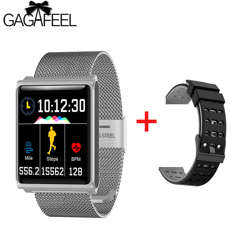 Fitness Mens Smart Watch N98 Fashion Steel Mesh Band Ip67 Waterproof Call Bluetooth Business Clock Sports Smart Watch Men Women 50% OFF Watches