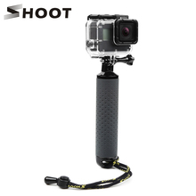 цена на SHOOT Waterproof Floating Hand Grip Antislip Sport Floaty Bobber for GoPro Hero 7 6 5 4 Sjcam Yi Lite 4K Action Camera Accessory