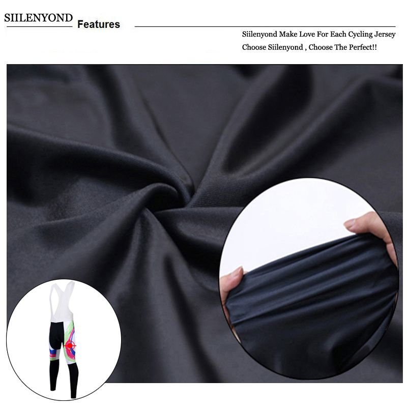 Siilenyond 2019 Women Winter Cycling Bib Pants With 3D Gel Pad Shockproof MTB Bicycle Cycling Bib Trousers Thermal Cycling Tight 7