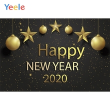 Yeele Happy New Year Bright Decorations Solid Words Photography Backdrops Personalized Photographic Backgrounds For Photo Studio