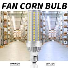 2PCS E27 LED Lamp Bulb E26 Corn Light 220V High Power Lampara 25W 35W 50W Candle 5730 SMD Fan Cooling 110V