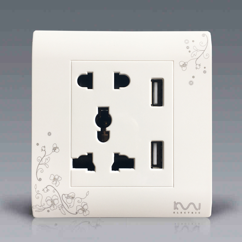 Free Shipping, Kempinski Luxury Wall Electrical Socket, Multifunction 5 hole Power Outlet...