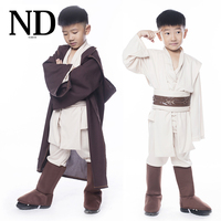 Star Wars Jedi Warrior Full Set Cosplay Costume Obi Wan Kenobi Costume Tunic For Children Kids